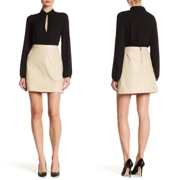 1. State Dresses & Skirts - 1.State Patch Pocket Faux Leather Skirt
